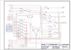 Schematic Editor ( Circuit _ 1-BIT_ALU - Page _ MAINPAGE ) [Project _ ECL] Page _ 1