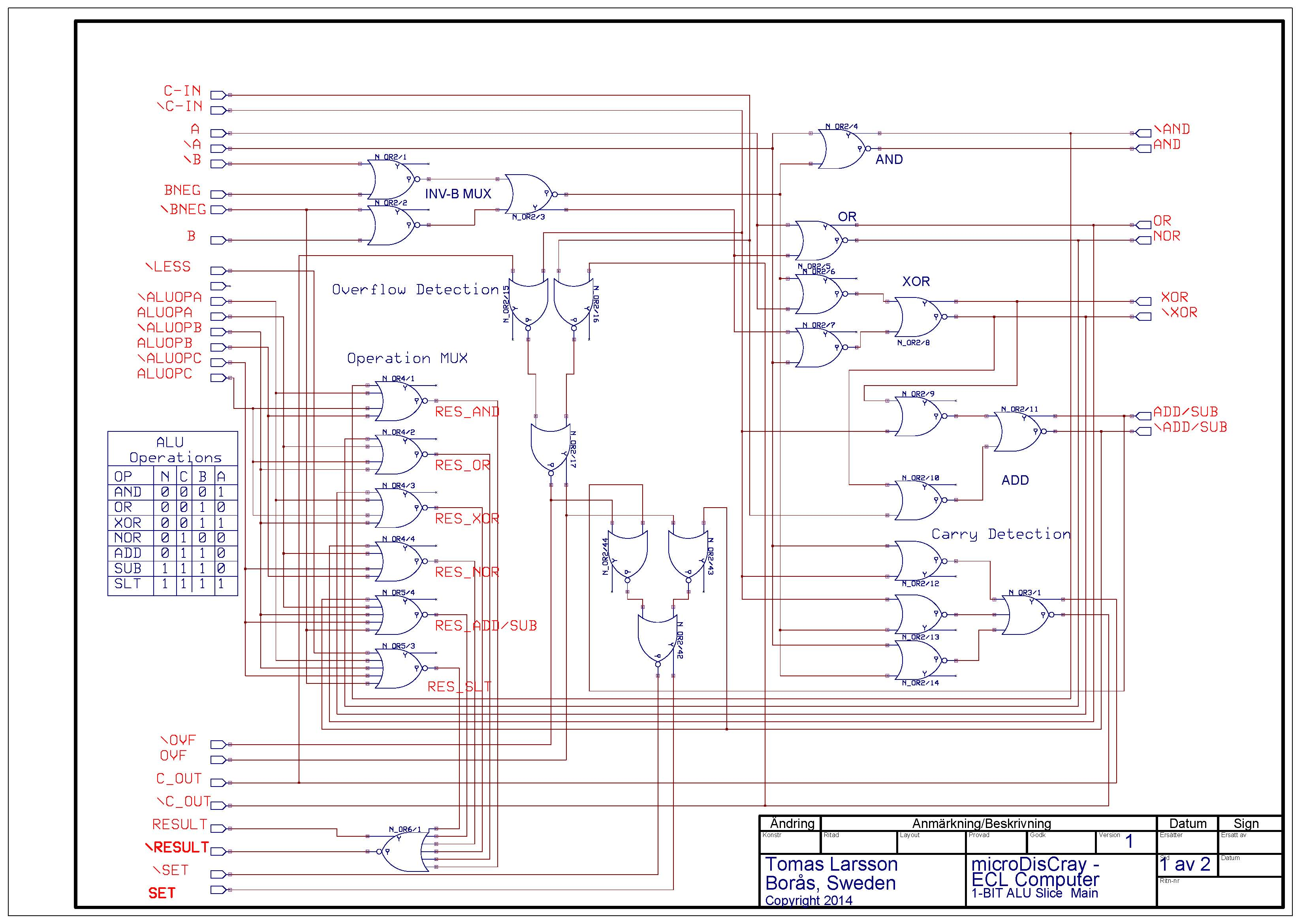 The Design Part 2 Alu Microdiscray Schematics Schematic Editor Circuit 1 Bit Page Mainpage Project