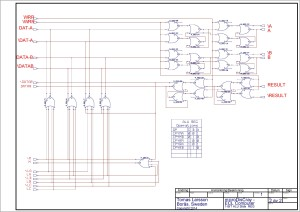 Schematic Editor ( Circuit _ 1-BIT_ALU - Page _ REG ) [Project _ ECL] Page _ 1